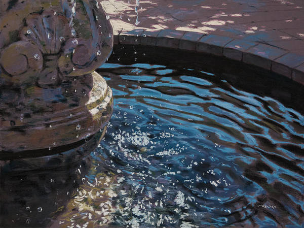 Pastel - Fountain by Christopher Reid
