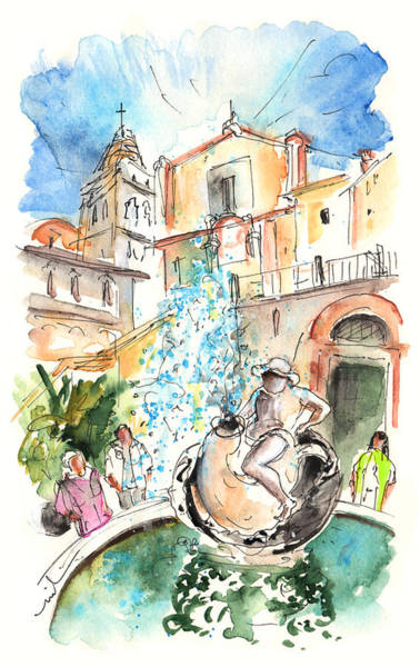 Painting - Fountain In Noto by Miki De Goodaboom