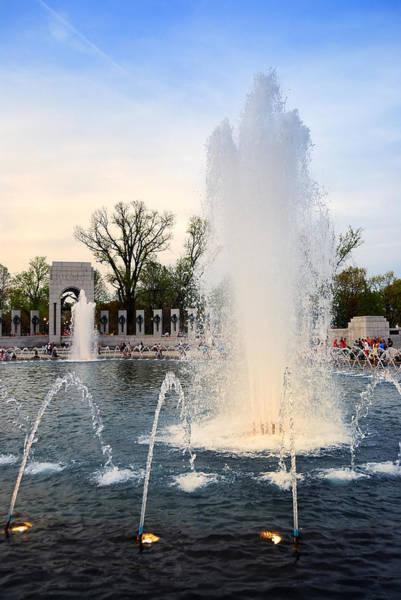 Photograph - Fountain In World War II Memorial In Washington Dc by Songquan Deng
