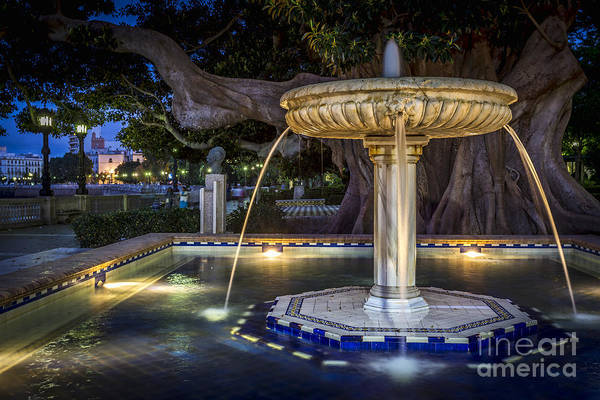 Photograph - Fountain Of Alameda Apodaca Cadiz Spain by Pablo Avanzini