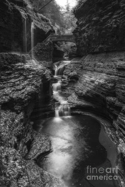 Cavern Photograph - Fountain Of Youth Bw by Michael Ver Sprill