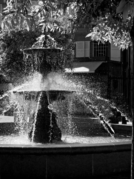 Photograph - Fountain On Place Toulzac / Brive La Gaillarde by Barry O Carroll