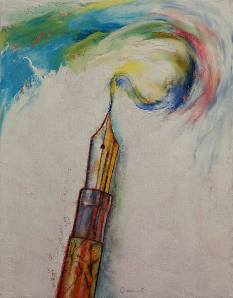 Pen Painting - Fountain Pen by Michael Creese