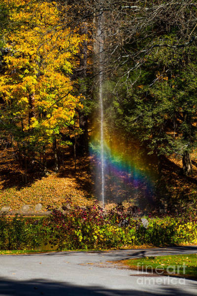 Photograph - Fountain Rainbow by William Norton