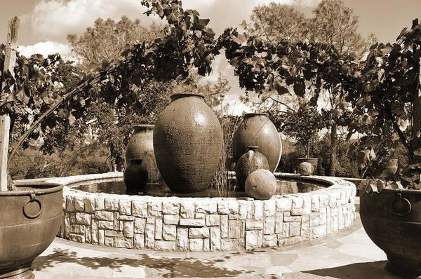 Digital Art - Fountain Urns by Kirt Tisdale