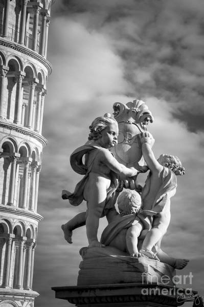 Photograph - Fountain With Angels by Prints of Italy