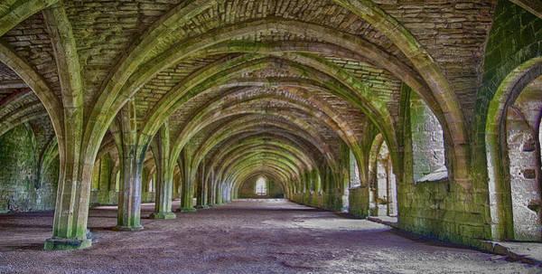 Wall Art - Photograph - Fountains Abbey  Cellarium by Trevor Kersley