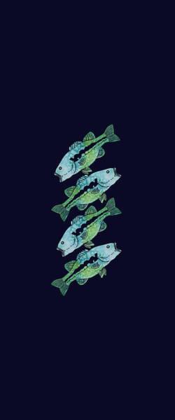 Wall Art - Mixed Media - Four Bass by Jenny Armitage