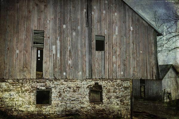 Shattered Photograph - Four Broken Windows by Joan Carroll