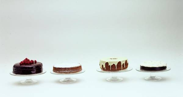 Sweet Photograph - Four Cakes Side By Side by Romulo Yanes