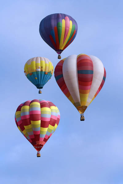 Photograph - Four Colorful Balloons by Wes and Dotty Weber