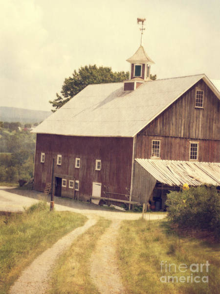 Horizontally Photograph - Four Corners Farm Vermont by Edward Fielding