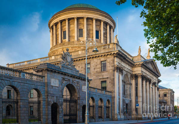 River Liffey Wall Art - Photograph - Four Courts Building by Inge Johnsson