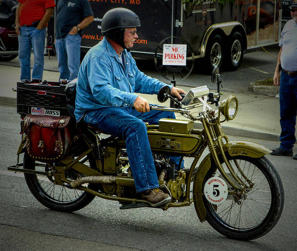 Photograph - Four Cylinder Henderson Motorcycle by Jeff Kurtz