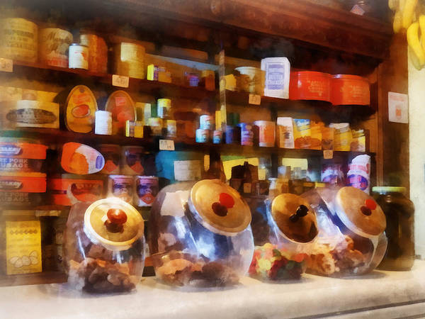 Photograph - Four Glass Candy Jars by Susan Savad
