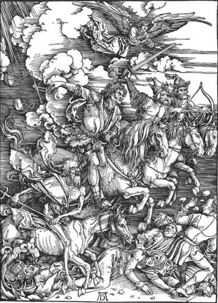 Painting - Four Horsemen Of The Apocalypse by  Albrecht Durer