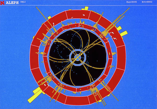 Wall Art - Photograph - Four-jet Collision Event In Aleph by Cern/science Photo Library