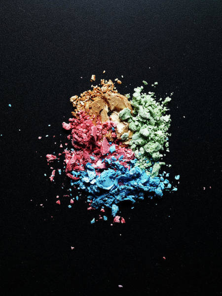 Make Up Photograph - Four Kinds Of Crashed Eye Shadows by Level1studio