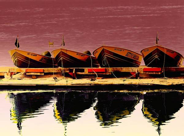 Swan Boats Photograph - Four Little Boats by Jeff Swan
