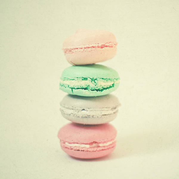 Wall Art - Photograph - Four Macarons by Cassia Beck