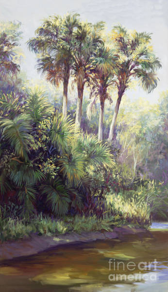 Everglades Painting - Four Palm Plaza by Laurie Snow Hein