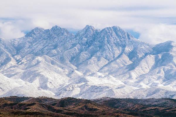 Photograph - Four Peaks Snow by Tam Ryan
