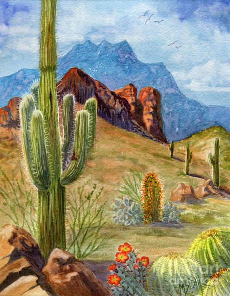 Painting - Four Peaks Vista by Marilyn Smith