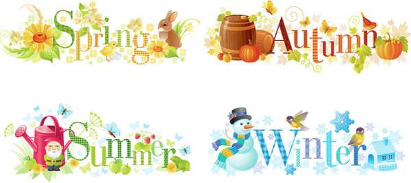 Event Digital Art - Four Seasons Spring, Summer, Autumn by O-che