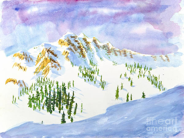 Painting - Four Sisters At Snowbasin by Walt Brodis