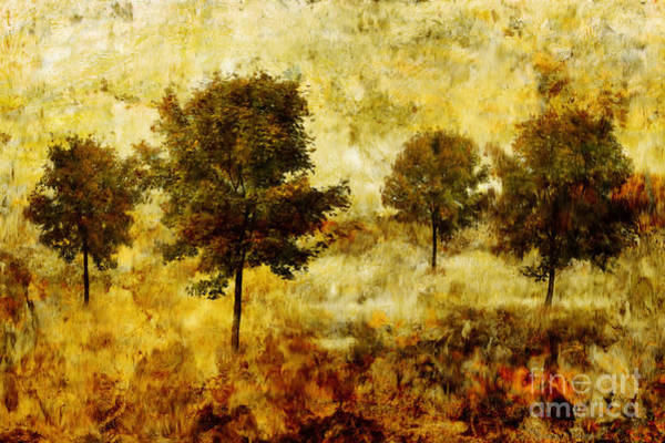 Wall Art - Painting - Four Trees by John Edwards