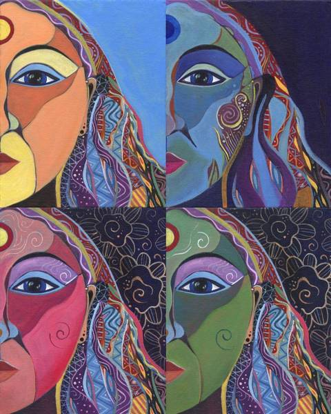 Painting - Four Ways by Helena Tiainen