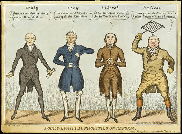 Attitude Drawing - 'four Weighty Authorities On  Reform' by Mary Evans Picture Library