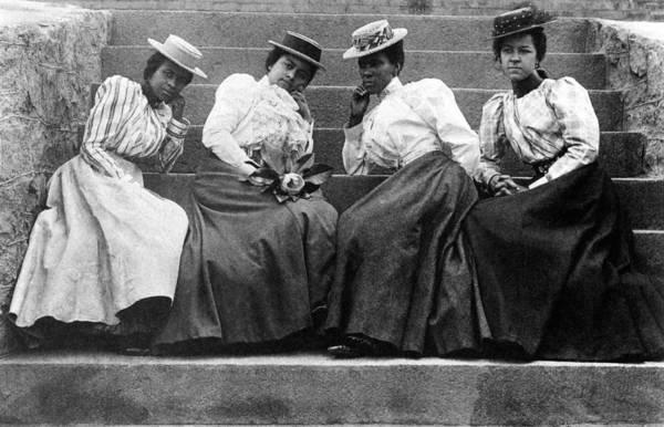 Photograph - Four Women, 19th Century by Granger