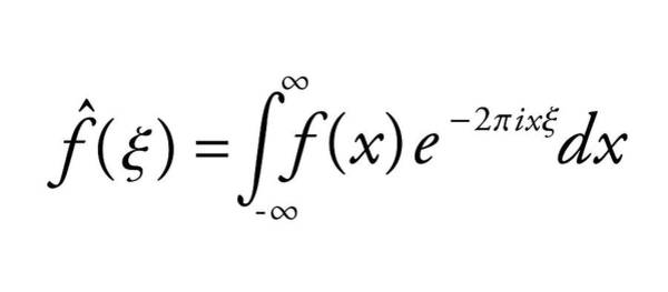 Equation Wall Art - Photograph - Fourier Transform by Science Photo Library