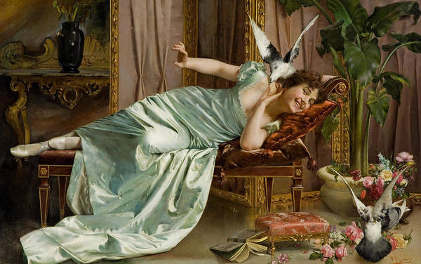 Wall Art - Painting - Fowl Play by Vittorio Reggianini