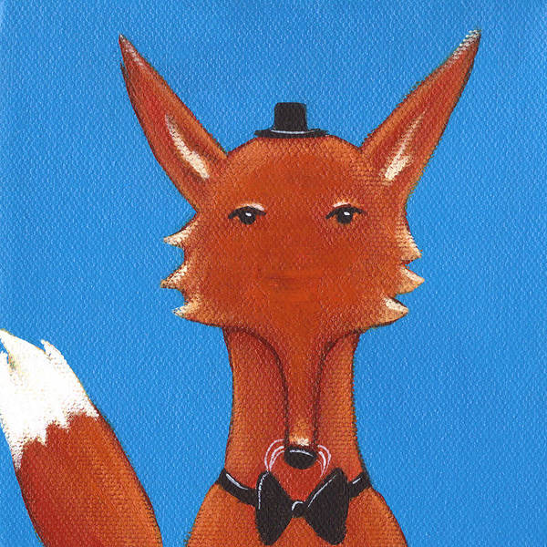 Wall Art - Painting - Fox by Christy Beckwith