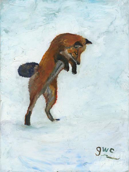 Wall Art - Painting - Fox Hunt by Gloria Condon