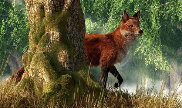 Reynard Wall Art - Digital Art - Fox In A Forest by Daniel Eskridge