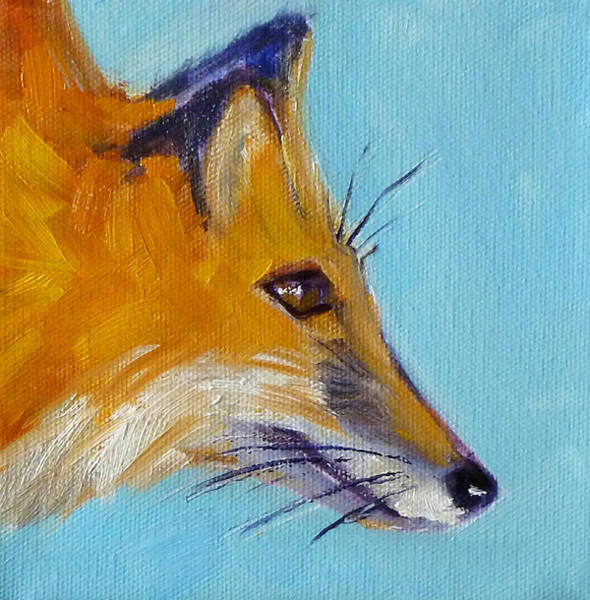 Wall Art - Painting - Fox by Nancy Merkle