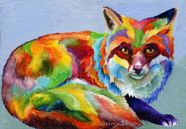 Painting - Fox by Sherry Shipley