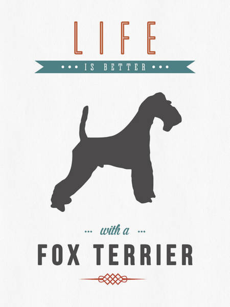 Foxes Digital Art - Fox Terrier 01 by Aged Pixel