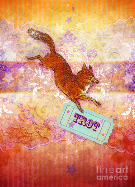 Foxes Digital Art - Foxtrot by MGL Meiklejohn Graphics Licensing