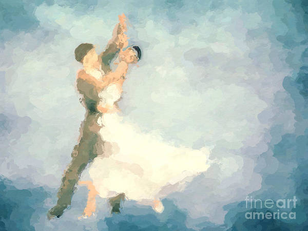 Dancers Wall Art - Painting - Foxtrot by John Edwards