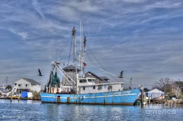 North Coast Harbor Photograph - Shrimp Boat At Port by Benanne Stiens