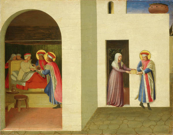 Healing Drawing - Fra Angelico, The Healing Of Palladia By Saint Cosmas by Litz Collection
