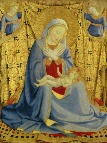 Wall Art - Drawing - Fra Angelico, The Madonna Of Humility, Italian by Quint Lox