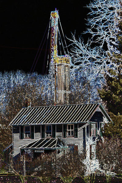 Photograph - Fracking by Jim West