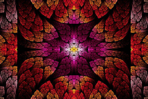 Digital Art - Fractal - Aztec - The All Seeing Eye by Mike Savad