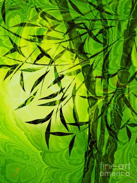 Bamboo Digital Art - Fractal Bamboo by Lutz Baar