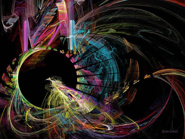 Digital Art - Fractal - Black Hole by Susan Savad